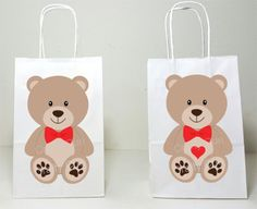 Teddy Bear Goody Bags, Teddy bear Goody Bags, Teddy Bear Party Bags, Teddy Bear Favor Bags, Teddy Bear Decorations, Valentine's Day Gift bag Teddy Bear Party, Teddy Bear Birthday, Teddy Bear Baby Shower, Cute Teddy Bears, 1st Birthday Shirts, First Birthday Parties, Small Gift Bags, Small Gifts, Goody Bags