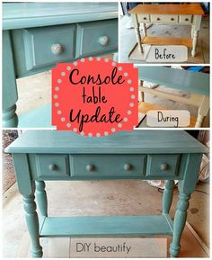 Console Table Makeov