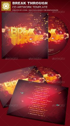 The Break Through CD Artwork Template is sold exclusively on graphicriver, it can be used for your Church Events, Sermons, Gospel Concert etc, or for any other marketing projects.