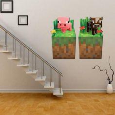 princess wall stickers big size minecraft 3d wall stickers creeper