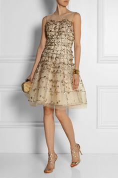 OSCAR DE LA RENTA Embellished tulle dress $6,490
