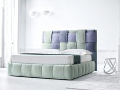 Fabric bed double bed with upholstered headboard TIFFANY By Felis High Headboard Beds, Bedroom Bed, Twin Bed Couch, Bed Story, Italian Furniture Brands, Bed Photos, Kitchen Room Design, Modern Bedroom Design, Diy Bed