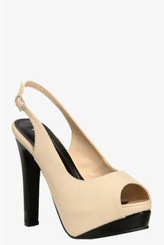 329f2642c54 Nude Holly Slingback Heels (Wide Width)