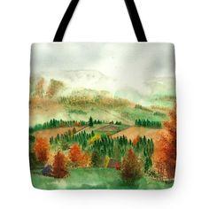 Transylvanian Autumn Tote Bag featuring the painting Transylvanian Autumn by Olivia C