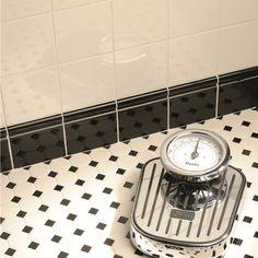 Classic Octagon and Dot Mosaic Porcelain Tile