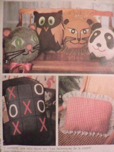 SeeSallySew.com - Panda Cat Lion Owl Tic-Tac-Toe Costume Patterns, Craft Patterns, Cool Patterns, Vintage Patterns, Tic Tac Toe, Iron On Transfer, Cross Stitch Patterns, Panda, Lion
