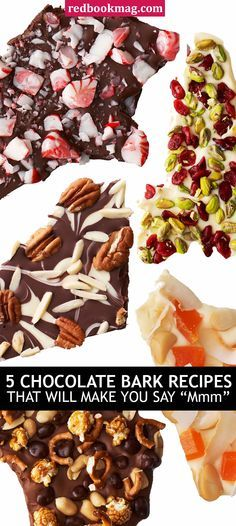 ... Chocolate Bark, Movie-Night Bark, and Tropical White-Chocolate Bark