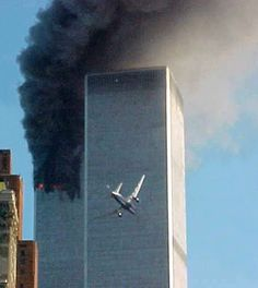 In this Sept. 11, 2001 file photo, American Airlines Flight 175 closes in on World Trade Center Tower 2 in New York, just before impact. (AP Photo/Carmen Taylor, File)  via @AOL_Lifestyle Read more: http://www.aol.com/article/news/2016/09/09/looking-back-15-iconic-images-from-9-11-and-its-aftermath/21467518/?a_dgi=aolshare_pinterest#fullscreen