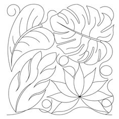Shop | Category: Flowers / leaves | Product: tropical leaves E2E---http://digitizedquiltingpatterns.com/shop/product/lc-1024-polygon-p2p/