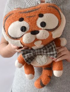 Art toy  Mister Tiger by MarieChou on Etsy, $140.00