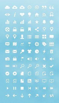 Interactive icon set