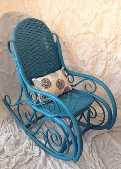 Thonet Style Bentwood Rocking Chair by SwankyLiving on Etsy, $125.00