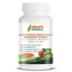 NEW 100 Pure Green Coffee Bean Extract 800mg 50 GCA  100mg Raspberry Keytones Ultimate Weight Loss Plus from NewFit Naturals  All Natural Maximum Strength Fat Burner and Metabolism Boosting Weight Loss Supplement 60 Capsules Full 1 Month Supply Made in the USA Best Quality and Guaranteed -- Click image to review more details.Note:It is affiliate link to Amazon.