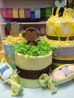 Mini Diaper Cake Centerpiece Monkey Unisex Baby Shower | eBay