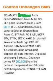 Disini Kamu Akan Di Pandu Cara Melamar Menjadi Anggota Gojek Indonesia Dengan Cara Daftar Gojek Via Sms Sms Undangan