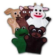 Sew Animal Hand Puppets! A puppet is by far the best toy you can give to your child. They are exceptional toys for all ages! From infants to 8, puppets are loved and played with frequently! #MAMMACANDOIT #SEWINGPATTERN #SEWING #HANDPUPPET #FROG #BEAR #COW #DOG Onesie Pattern, Baby Pants Pattern, Baby Clothes Patterns, Baby Patterns, Frog Puppet, Glove Puppets, Finger Puppets, Animal Hand Puppets, Finger Puppet Patterns
