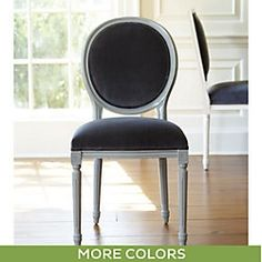 Lacquer Oval Louis Side Chair - Ballard Designs