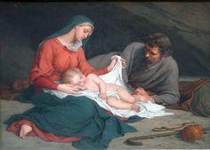 Jozsef Dragan (1861 – ?, Hungarian) Family Idyll - Holy Family Resting