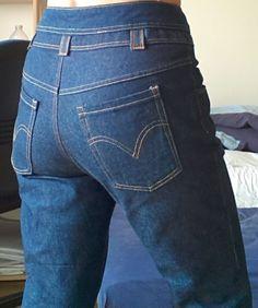 20150417_131439 Fashion Sewing, Diy Fashion, Recycle Jeans, Diy Dress, Skirt Pants, Refashion, Sewing Hacks, Short Skirts, Denim