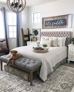 Are you looking for pictures for farmhouse bedroom? Check this out for perfect farmhouse bedroom pictures. This specific farmhouse bedroom ideas seems to be absolutely excellent. Farmhouse Master Bedroom, Master Bedroom Design, Dream Bedroom, Home Decor Bedroom, Modern Bedroom, Master Bedrooms, Bedroom Designs, Master Bedroom Furniture Ideas, Master Bedroom Decorating Ideas