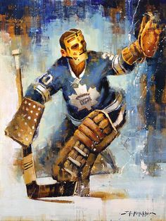 Terry Sawchuk Canvas Print with Frame Options, Toronto Maple Leafs, Hockey Wall Art, Sports Art Prin Hockey Goalie, Ice Hockey, Toronto Maple Leafs Wallpaper, Hockey Girls, Hockey Mom, Hockey Posters, Sports Art, Sports Teams, Maple Leafs Hockey