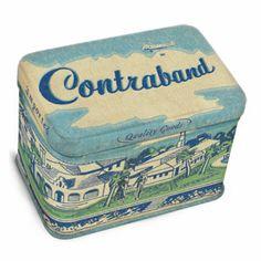 BlueQ Contraband Jr. Tin Treasure Box