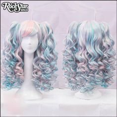 Gothic Lolita Wigs® Baby Dollight™ Collection - 00013 Pink & Blue Blend - Rockstar Wigs