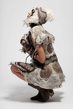 wearable Art by Barbara Poole, felt artist.
