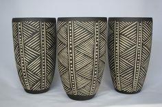 Sgraffito Keramik linien