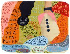 Martha Rich, super sonic death ray, acrylic on paper, 7.5 x 10″