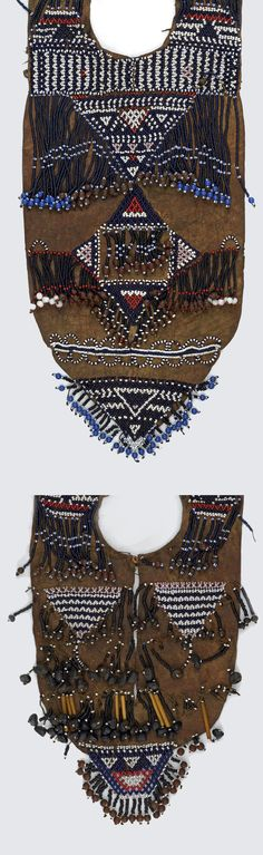 Chief's cape made of hide, glass beads, seeds and fibre. British Museum, Image Shows, Uganda, Kenya, Seed Beads, Boho Shorts, Glass Beads, Cape, Seeds