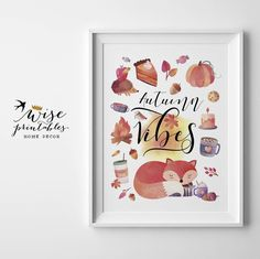 ★ AUTUMN VIBES ★ feel the taste of Pumpkin Spice latte's and pie, smell falling leaves and cinnamon candles! It's a cozy sweater weather now! And harvest time wall art for the best time of the year...