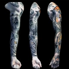 Evil forest full sleeve tattoo for men part 1 by steve toth tattoo тату. Black Sleeve Tattoo, Realistic Tattoo Sleeve, Tattoos Realistic, Full Sleeve Tattoo Design, Best Sleeve Tattoos, Tattoo Sleeves, Cool Tattoos For Guys, Trendy Tattoos, Popular Tattoos