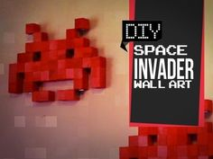 This #DIY Space invader wall art came out so cute !  Check it out yourself on how to make it ! #spaceinvaders