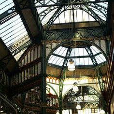 Victorian ironwork over Kirkgate covers Europe's largest enclosed Victorian market