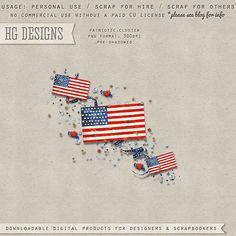 Scrapbooking TammyTags -- TT - Designer - HG Designs, TT - Item - Element, TT - Style - Cluster, TT - Theme - Patriotic or July 4th