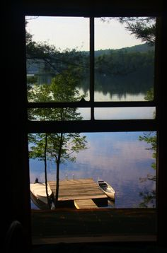 Window with a lake view