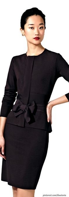 Valentino black suit for work