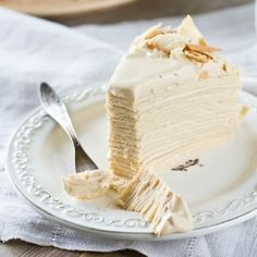 Rich Condensed Milk Layer Cake. Very thin, gentle layers with delicious condensed milk cream.