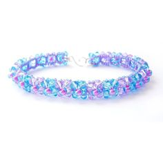 Violet and Aquamarine Bracelet