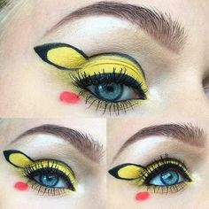 Neuer Hype im Netz: Jetzt kommt das Poké-Make-up New hype in the net: Pokemon make-up up (Halloween Costume Kids) Diy Pokemon, Festa Pokemon Go, Pokemon Party, Pokemon Birthday, 8th Birthday, Birthday Tutu, Pikachu Makeup, Party Make-up, Party Ideas