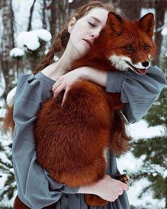 Сказочные портреты рыжеволосых девушек-моделей с лисицей (15фото) » Картины, художники, фотографы на Nevsepic