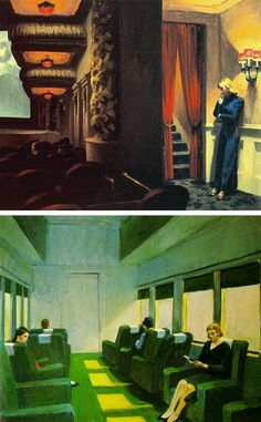 Edward Hopper//color inspiration// that green!