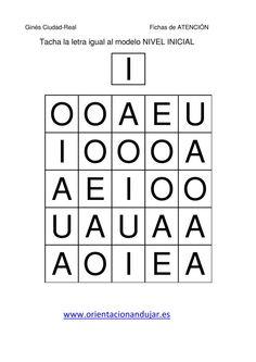 tacha las vocales mayusculas igual al modelo  fichas-3 Language, Coding, Classroom, Education, Logos, School, Literacy Activities, Writing, Alphabet