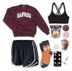 """""""cozy day tag! read description"""" by preppy-pretty-penny ❤ liked on Polyvore featuring NIKE, Patagonia, Jennifer Zeuner, J.Crew, Kate Spade and Target"""