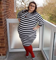 This fat girl loves horizontal stripes   I've decided the people who make up fashion rules for fat people must be really boring. Saying we need to avoid horizontal stripes as they make us look fatter makes no sense to me. Newsflash - I look fat whatever I wear because I AM FAT. I'm not going to let that curtail my fashion choices and neither should you. If you've ever been told you're too fat/skinny/old to wear anything phooey. Wear the thing and be happy. Any link with AL written after it…