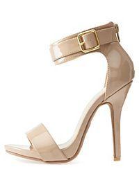 Belted Ankle Strap Heels