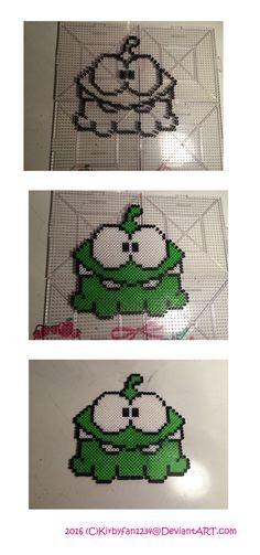Om Nom - Cute the Rope Perler Beads by Kirbyfan1234