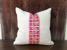 """Tribal Hemp Textile Decorative Pillow Handmade Embroidered Eco Friendly Pillow Case 18"""" x 18""""  Pieces Of Tribal Costume"""