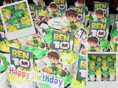 Izah's Kitchen: Ben 10 Birthday Cupcakes